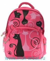 Рюкзак 30х40х17см «Кошки. Романтика» розовый. Артикул 12-001/04 (ТМ Bruno Visconti)