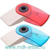 Ластик 54х25х13 мм «Sleeve mini» пластиковый футляр, цвет в ассортименте : Арт.182412 (ТМ Faber-Castell)