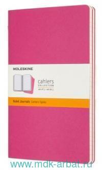 Книга для записей «Moleskine Cahier Journals» : формат А5, разлиновка: в линейку, мягкий переплет, розовый (комплект из 3 шт.) : арт. 1128353