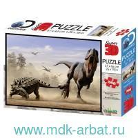 Пазл 3D 500 элементов «Дасплетозавр против эвоплоцефала» : Арт.10331 (ТМ Prime 3D)