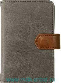 Визитница «Traveler» : размер 77х105мм, материал - искусственная замша : арт.IVZ039/beige (ТМ «In Folio»)