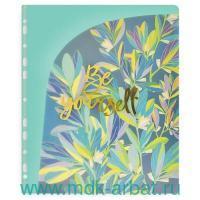 Папка д/докум.А4«Листья»Бирюзово-фиолет. Арт.48296