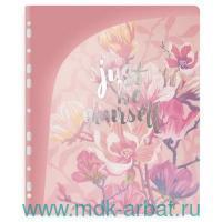 Папка д/докум.А4«Цветы»розов. Арт.48297