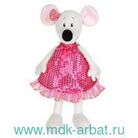 Игрушка мякгая 28 см «Крыса Василиса» в бордовом платье : Арт.MT-MRT021925-28 (ТМ Maxitoys)