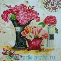 Картина-раскраска алмазная 40х50см «Розовый аромат» : арт. RF001 (ТМ Color Kit)