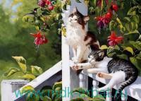 Набор для вышивания бисером 30х40см «Котята в саду» : арт. VS022 (ТМ Color Kit)