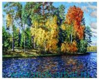 Картина стразами 40х50см «Березы над рекой» : арт. KUK001 (ТМ Color Kit)
