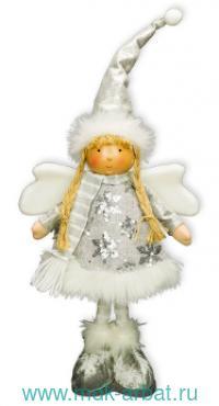 Фигурка 21х30.5 «Девочка-ангел» бело-серебристый : Арт.М72320 (ТМ Holiday Classics)
