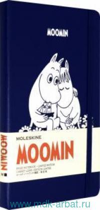 Книга для записей «Moomin» : формат А5, линейка, 96 листов, синяя : арт.1136699 (ТМ Moleskine)