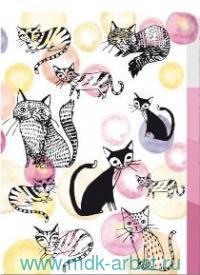 Папка - уголок для документов А5 3 отделения «Коты»  : Арт.49665 (ТМ Феникс+)