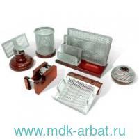Набор настольный 6 предметов «Wood&Metal» красное дерево : Арт.230876 (ТМ Galant)