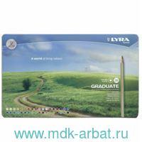 Карандаши 36 цветов гексагональные металлический пенал : арт.L2871360 (ТМ Lyra)