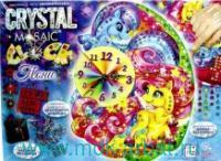 Набор креативного творчества «Часы своими руками. Пони» Crystal Mosaik Clock : Арт. СМС-01-03 (ТМ Dankotoys)