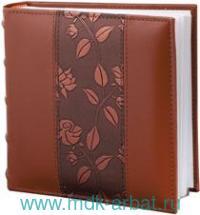 Фотоальбом 200фото 10х15 «Цветы» коричневый : арт.390483 (ТМ Brauberg)
