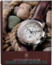 Фотоальбом 200 фото 10х15см «Часы» коричневый : арт.390667 (ТМ Brauberg)