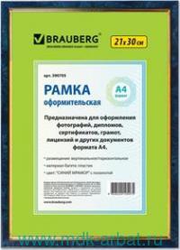 Рамка для фото 21х30 пластик синий мрамор : арт.390705 (ТМ Brauberg)