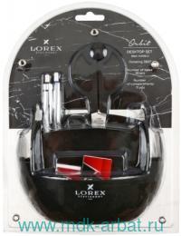 Набор настольный «Lorex Orbit» 10 предметов, цвет черный : Арт.LXDSOR-B (ТМ Lorex)