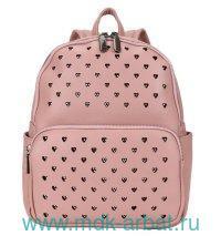 Рюкзак 26х32.5х11см экокожа, палево-розовый : Арт.DW-902 (ТМ OrsOro)
