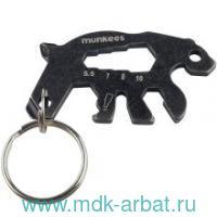 Брелок-мультитул «Keychain Tool Bear» черный. Арт.2536/1144632 (ТМ Munkees)