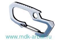 Карабин «Multi-function Stainless» серый. Арт.3203/1143924 (ТМ Munkees)