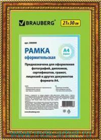 Рамка для фото 21х30см бронза с позолотой : арт.390999 (ТМ Brauberg)