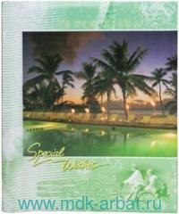 Фотоальбом 20 листов магнитных 23х28см «Курорт» зеленый : арт.390687 (ТМ Brauberg)