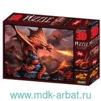 Пазл 3D 500 элементов «Огненный дракон» : Арт.10090 (ТМ Prime 3D)