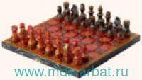 Шахматы «Хохлома» 29х14.5х3.8 см обиходные : Арт.626 (Ровертайм)