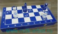 Шахматы «Гжель» 40х20х5.5 см турнирные : Арт.632 (ТМ Ровертайм)
