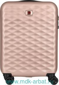 Чемодан : размер 40х20х55см «Lumen», материал - пластик, цвет - золотисто-розовый : арт. 606496 (ТМ «Wenger»)