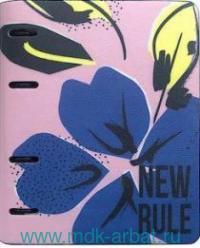 Тетрадь со сменным блоком 120 листов клетка «Blue flower» искусственная кожа : Арт.N1806 (ТМ Infolio)