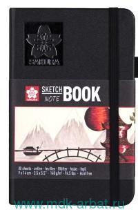 Блокнот для зарисовок 9х14 см., 80 л.«Sakura» твердая обложка : Арт. 94140001