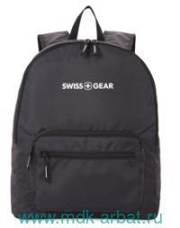 Рюкзак 33.5х15.5х40см, складной, черный. Артикул 5675202422 (ТМ SWISS GEAR)