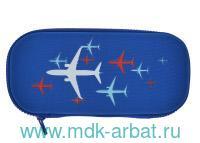 Пенал 223х110х52 «Самолетики» 1отделение на молнии : Арт.14-053/08 (ТМ Bruno Visconti)