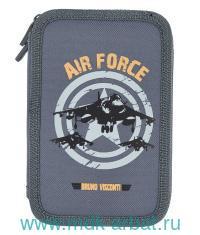 Пенал 20х12см «Air Force» 2 отделения на молнии : Арт.14-051/21 (ТМ BrunoVisconti )