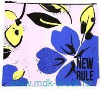 Папка для тетрадей А5 «Blue flower»на молнии : арт. IFC016 (ТМ Be Start)