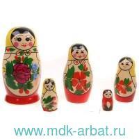 Матрёшка 5-ти кукольная. Семеновская традиционная роспись : Арт.200903-0020-482 (ТМ Вятский сувенир)