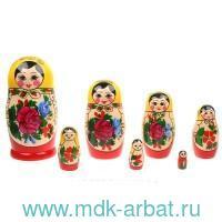 Матрёшка 7-ми кукольная. Семеновская традиционная роспись : Арт.200903-0020-484 (ТМ Вятский сувенир)