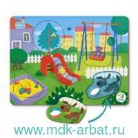 Пазл-сортер «Во дворе» : Арт.300285 (ТМ Vladi Toys)