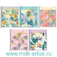 Тетрадь, 48 листов, клетка, «Tropical floral», гребень : арт. Т48спкФ_24512 (ТМ Art Spase)