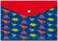 Папка для тетрадей А4 «Динозавры» на кнопке : Арт.46619 (ТМ Феник+)