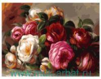 Живопись на холсте 30х40 «Розы Ренуара» : Арт.316-AS (ТМ Белоснежка)