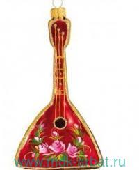 Украшение «Чайная роза. Балалайка» стекло, индивидуальная упаковка : Арт.717.2 (ТМ Ариель)