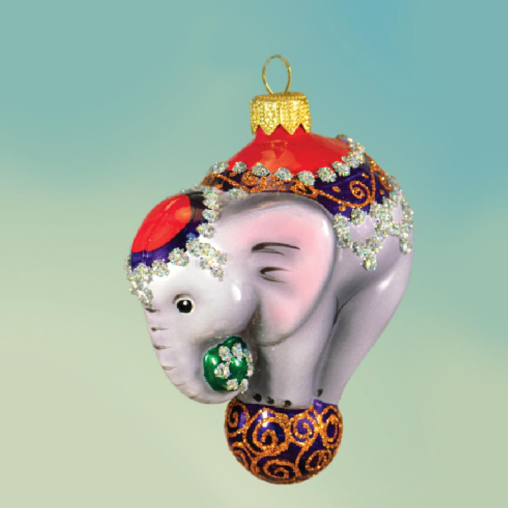 Украшение «Слон в бархатной попоне»стекло : арт.768.1 (ТМ Ариель)