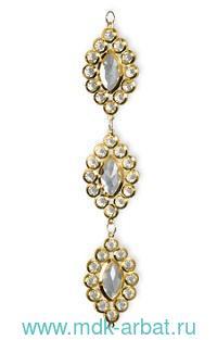 Украшение 24см «Алмазные подвески» золотое : Арт.GLD439 (ТМ Holiday Classics)
