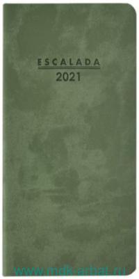 Еженедельник 2021 8х16.5 64 листа, зеленый : арт.52356 (ТМ Escalada)