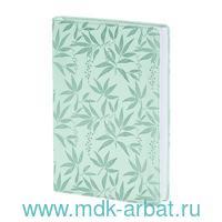 Ежедневник недатированный А5 160 листов «Leaves» мятный : Арт.AZ851/mint (ТМ In Folio)
