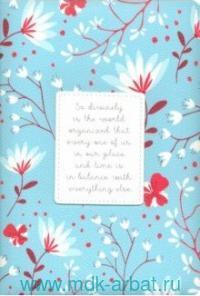 Ежедневник А5 2021 176 листов «Romant» ляссе, голубой : арт.AZ1082/blue (ТМ In Folio)
