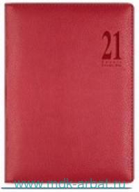 Ежедневник А5 2021 «Milano» искусственная кожа, цвет красный : Арт.910191 (ТМ Letts )
