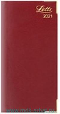 Еженедельник А6 2021 «Lexicon» искусственная кожа, цвет бургунди : Арт.822947 (ТМ Letts )